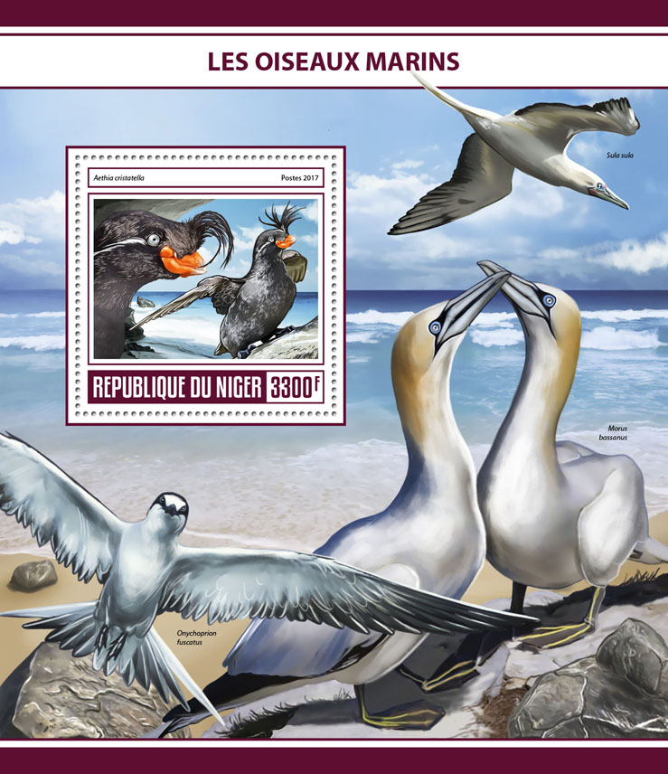 Seabirds - Issue of Niger postage stamps