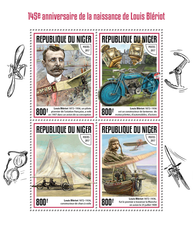 Louis Bleriot - Issue of Niger postage stamps
