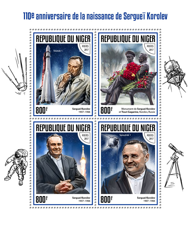 Sergei Korolev - Issue of Niger postage stamps