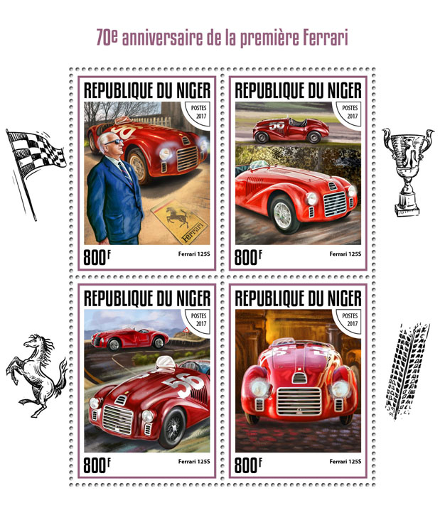 Ferrari - Issue of Niger postage stamps