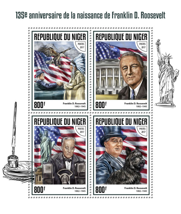 Franklin D. Roosevelt - Issue of Niger postage stamps