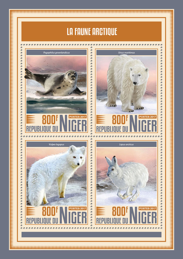 Artic fauna - Issue of Niger postage stamps
