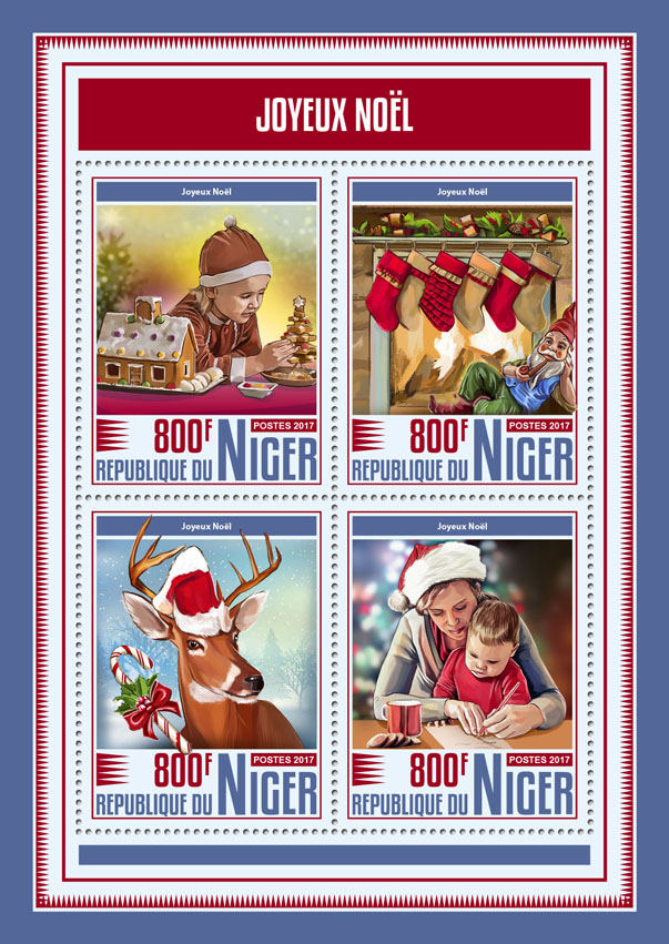 Merry Christmas - Issue of Niger postage stamps