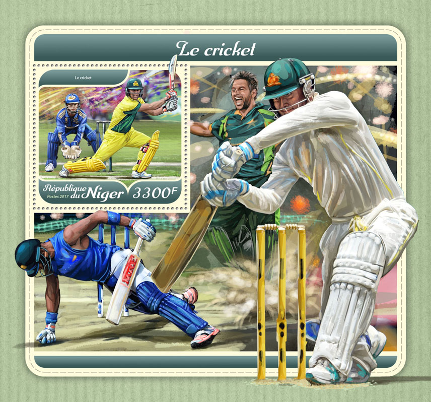 Cricket - Issue of Niger postage stamps