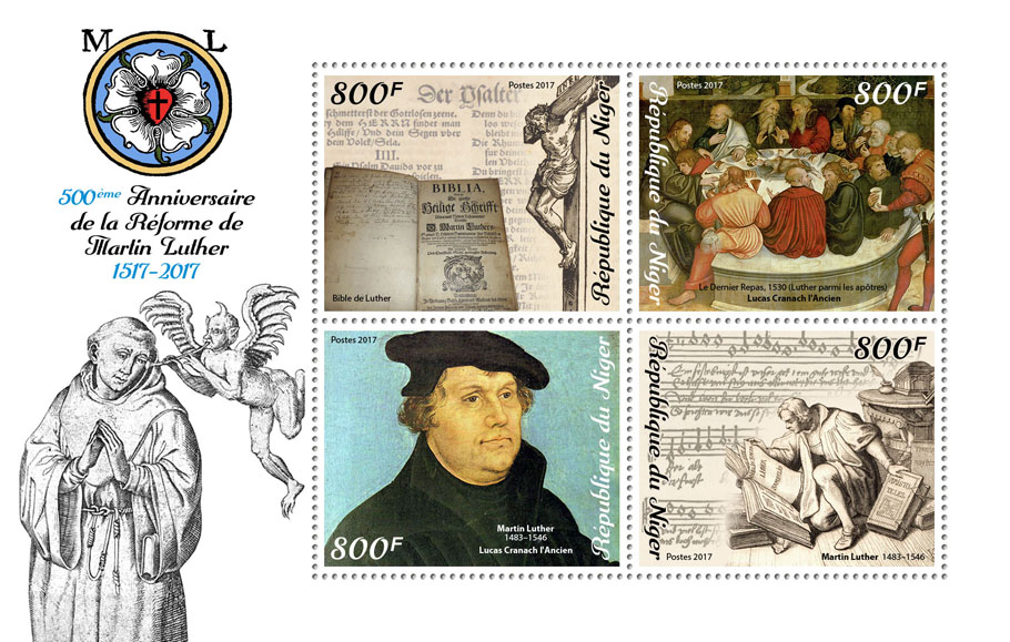 Reformation - Issue of Niger postage stamps