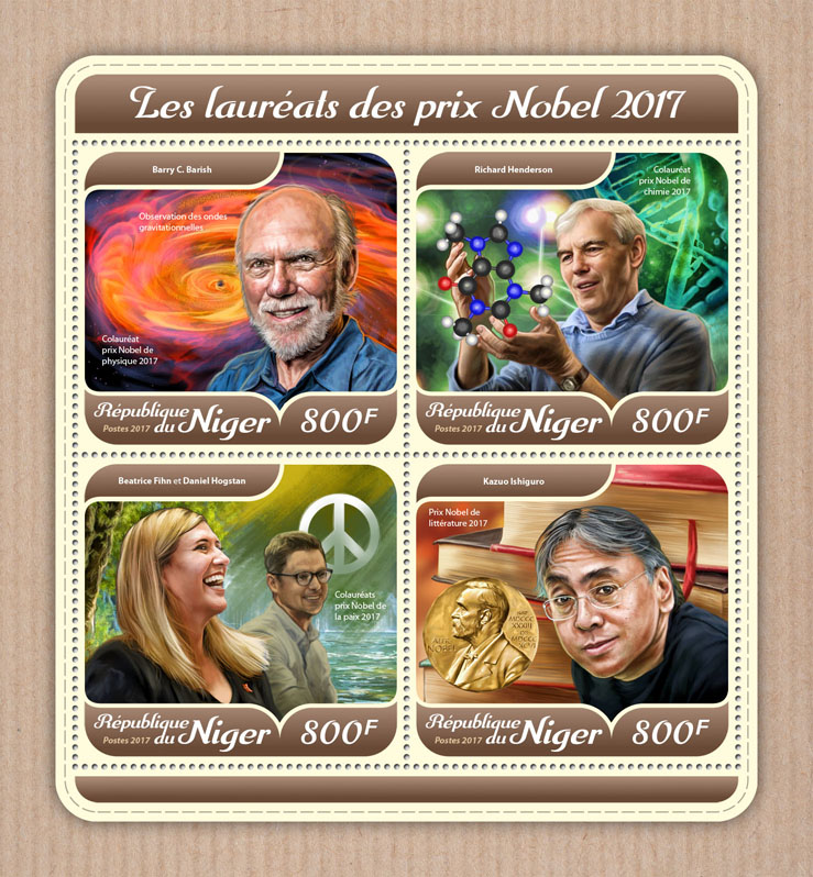 Nobel Prize - Issue of Niger postage stamps