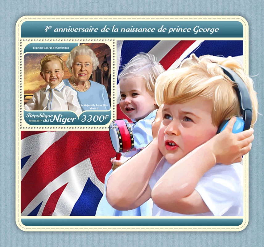Prince George - Issue of Niger postage stamps