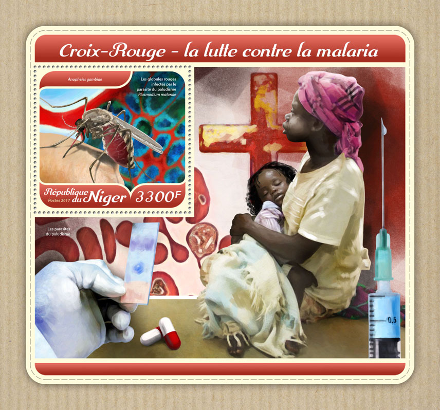 Malaria and Red Cross - Issue of Niger postage stamps