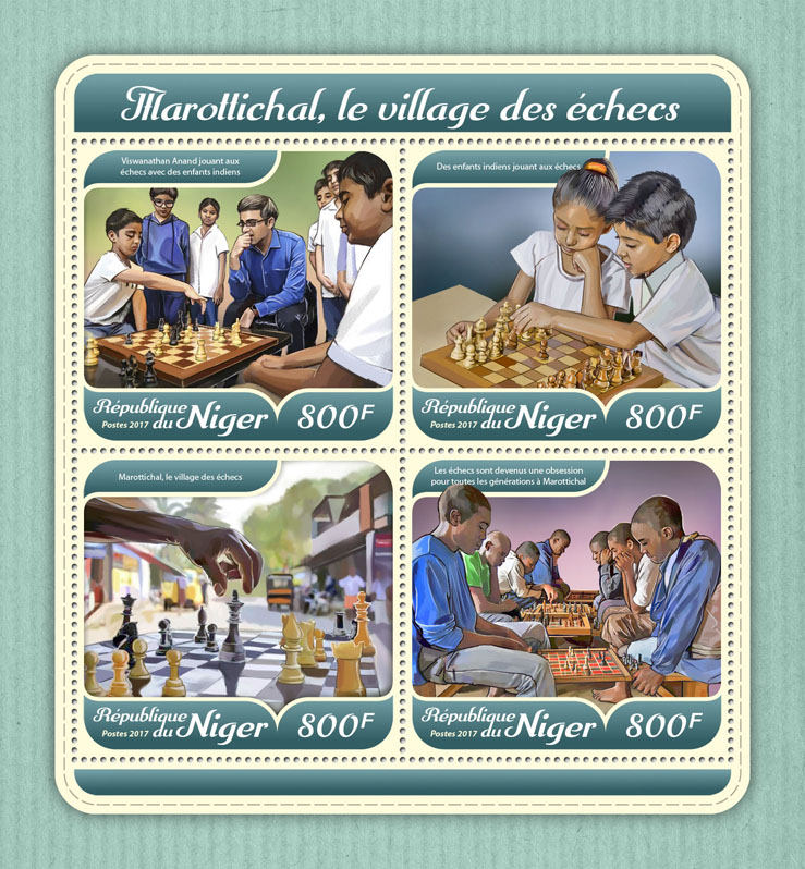 Chess village - Issue of Niger postage stamps