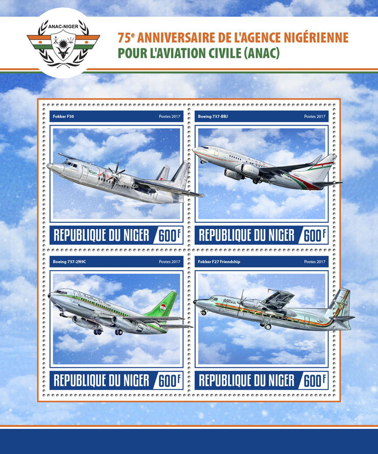 ANAC - Issue of Niger postage stamps