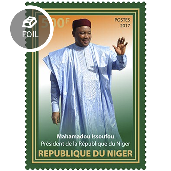 The President of Niger - Issue of Niger postage stamps
