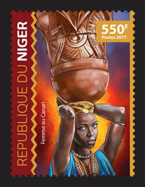 Canary woman - Issue of Niger postage stamps