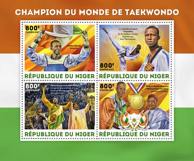 Taekwondo World Champion - Issue of Niger postage stamps