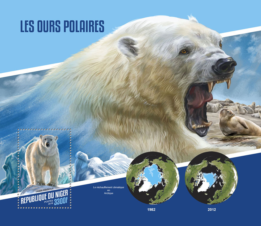 Polar bears - Issue of Niger postage stamps