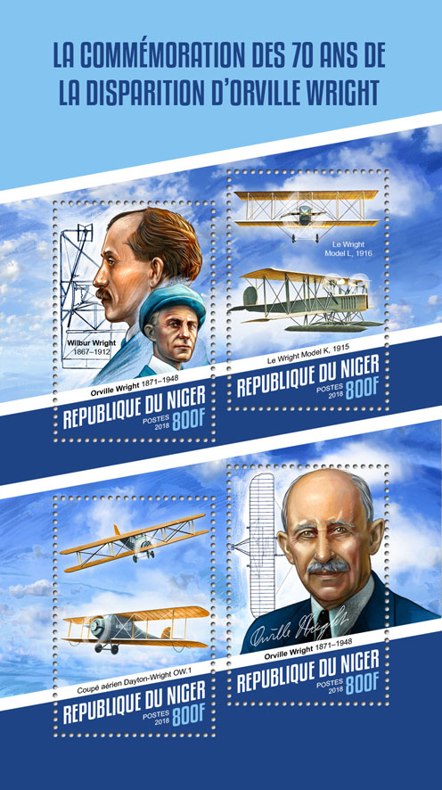 Orville Wright  - Issue of Niger postage stamps