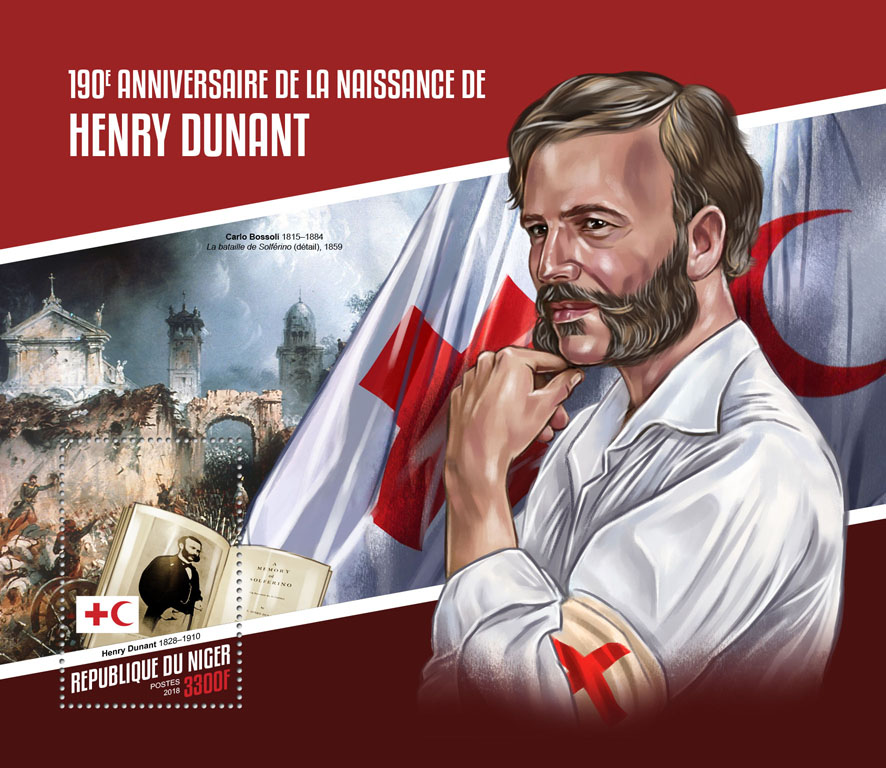 Henry Dunant - Issue of Niger postage stamps