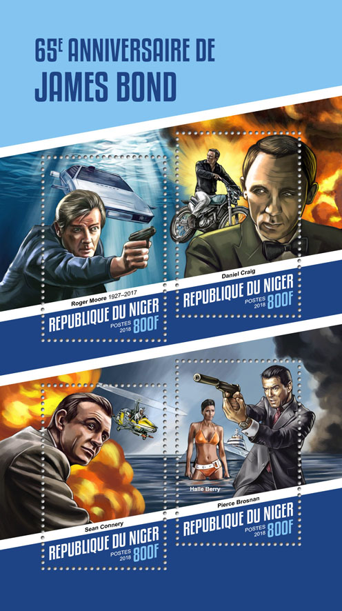 James Bond - Issue of Niger postage stamps