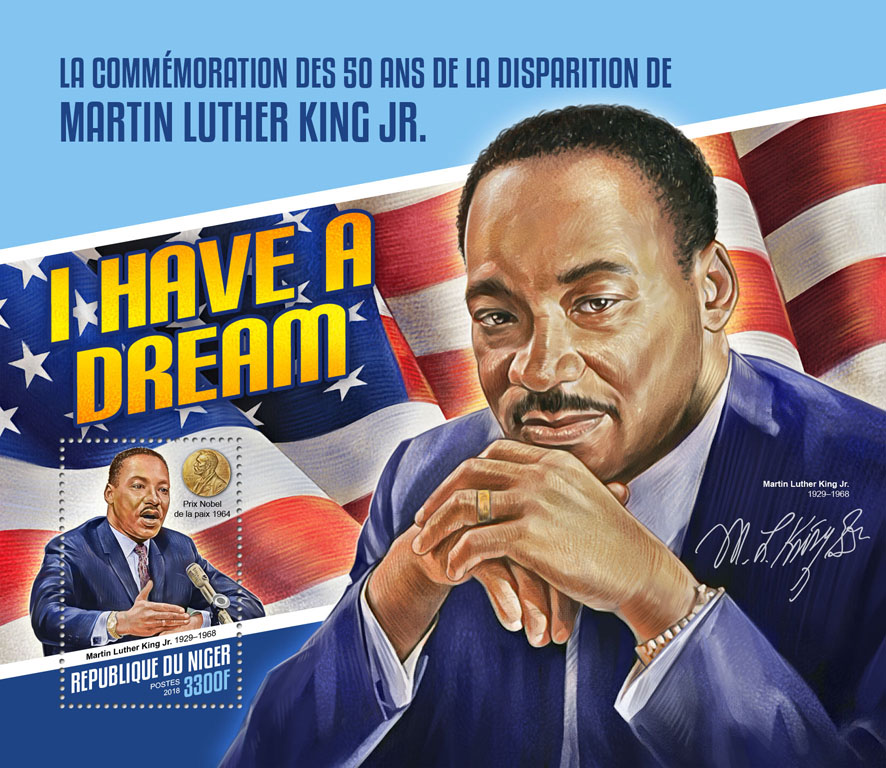 Martin Luther King Jr.  - Issue of Niger postage stamps