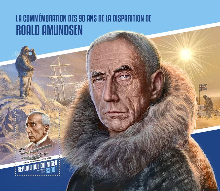 Roald Amundsen - Issue of Niger postage stamps