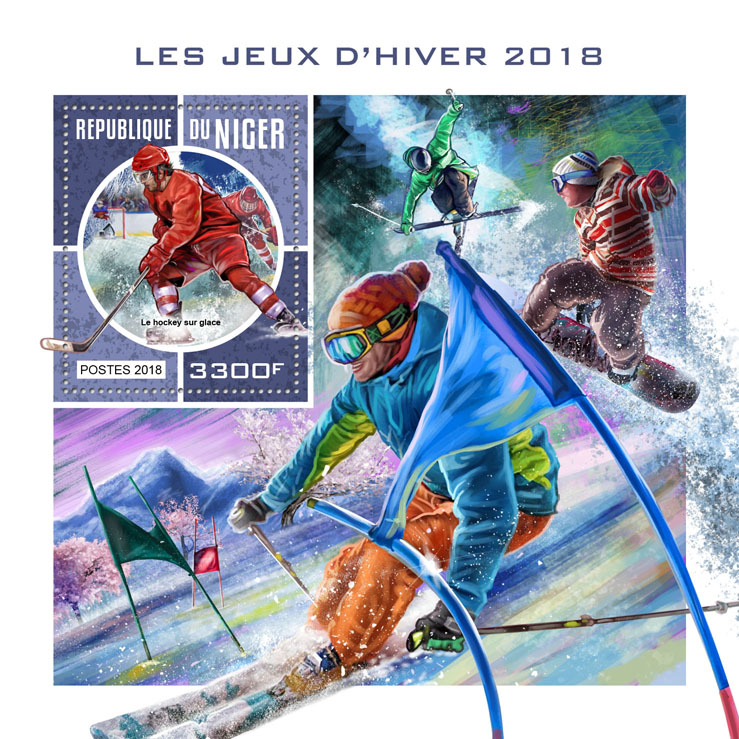 Winter Games 2018 - Issue of Niger postage stamps