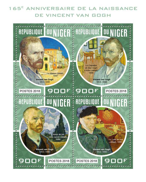 Vincent van Gogh - Issue of Niger postage stamps