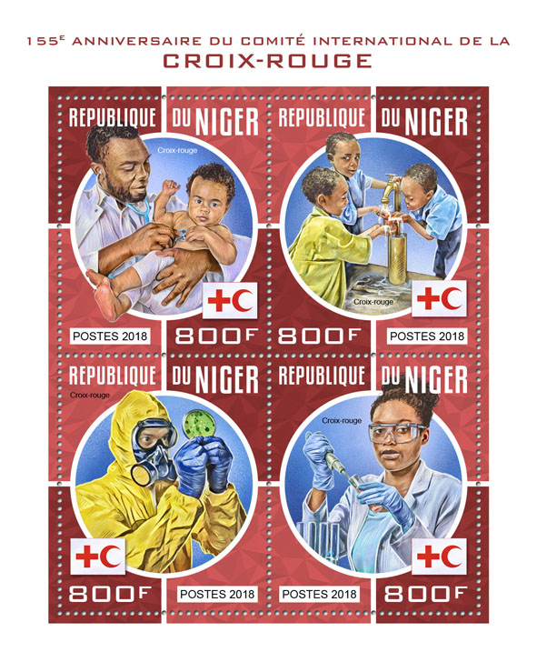 Red Cross - Issue of Niger postage stamps