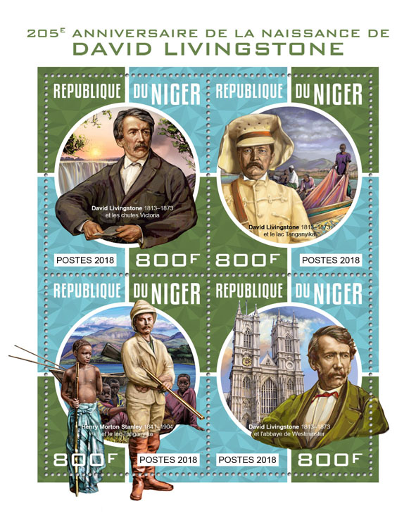 David Livingstone  - Issue of Niger postage stamps