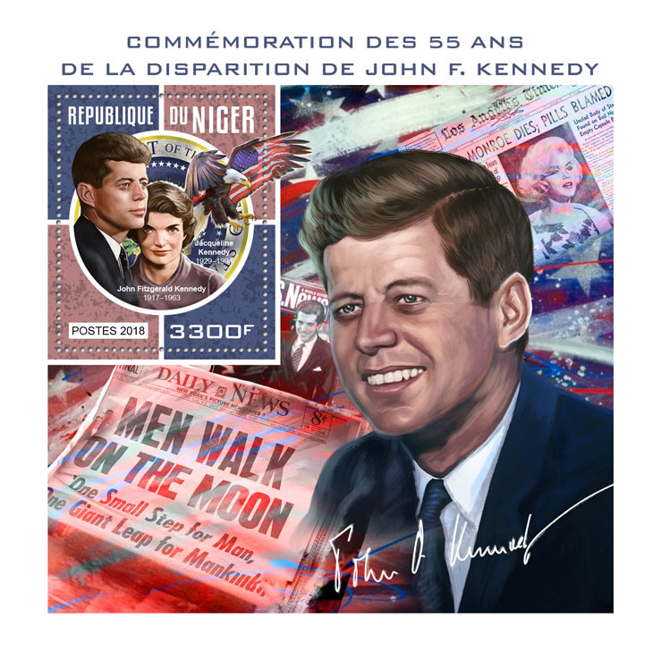 John F. Kennedy - Issue of Niger postage stamps
