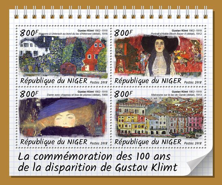 Gustav Klimt - Issue of Niger postage stamps
