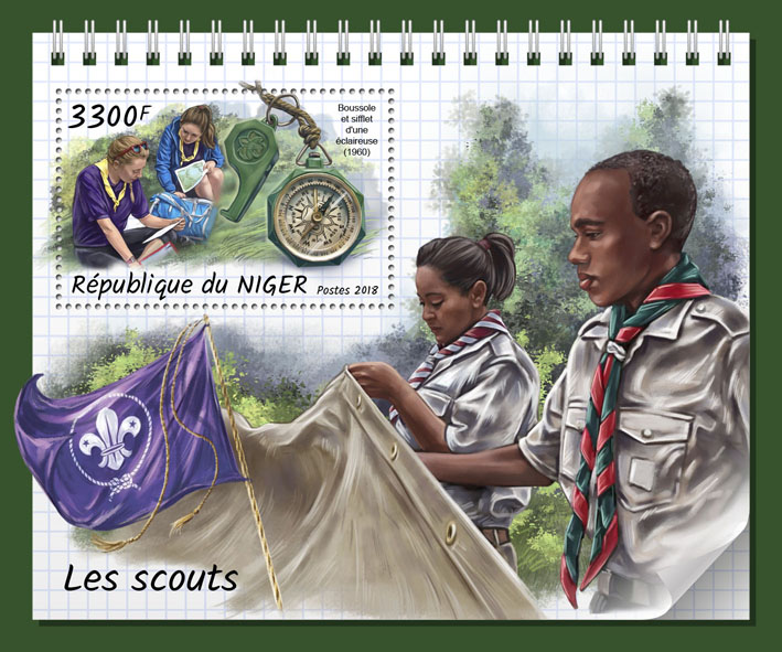 Scouts - Issue of Niger postage stamps