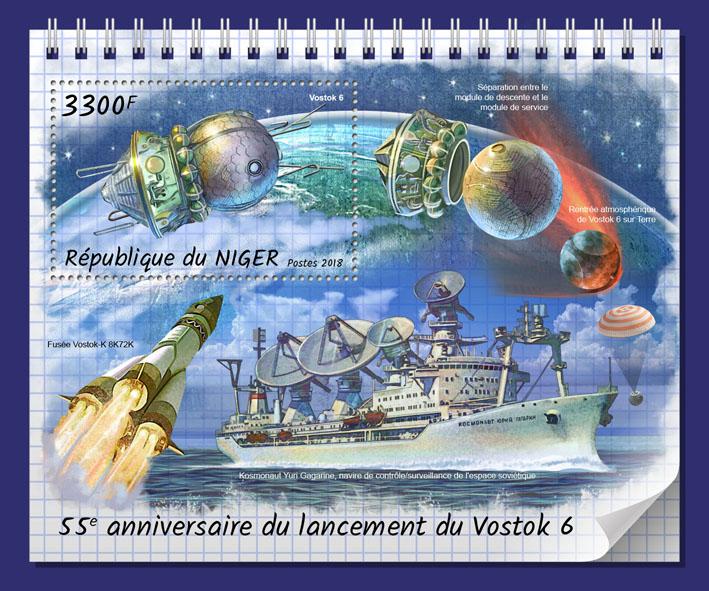 Vostok 6 - Issue of Niger postage stamps