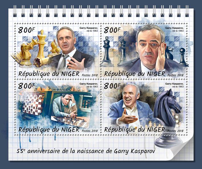 Gary Kasparov - Issue of Niger postage stamps