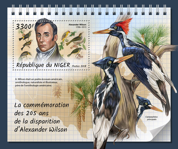 Alexander Wilson  - Issue of Niger postage stamps