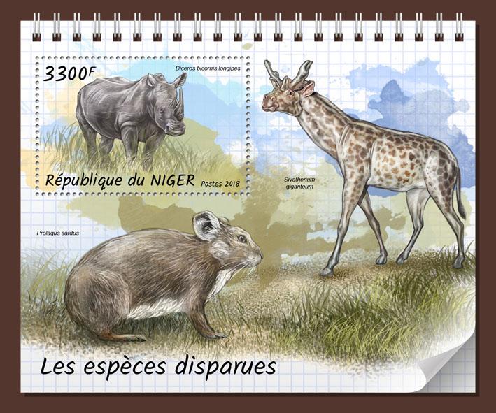 Extinct species - Issue of Niger postage stamps