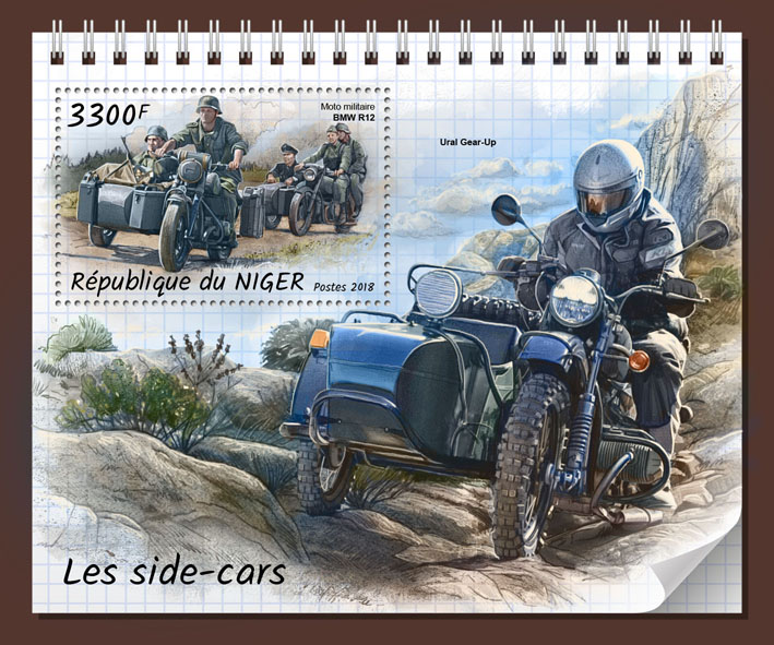 Sidecars - Issue of Niger postage stamps