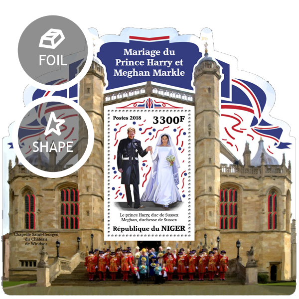 Wedding of Prince Harry and Meghan Markle - Issue of Niger postage stamps