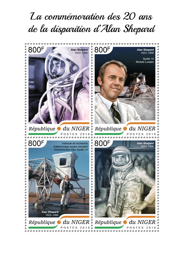 Alan Shepard - Issue of Niger postage stamps