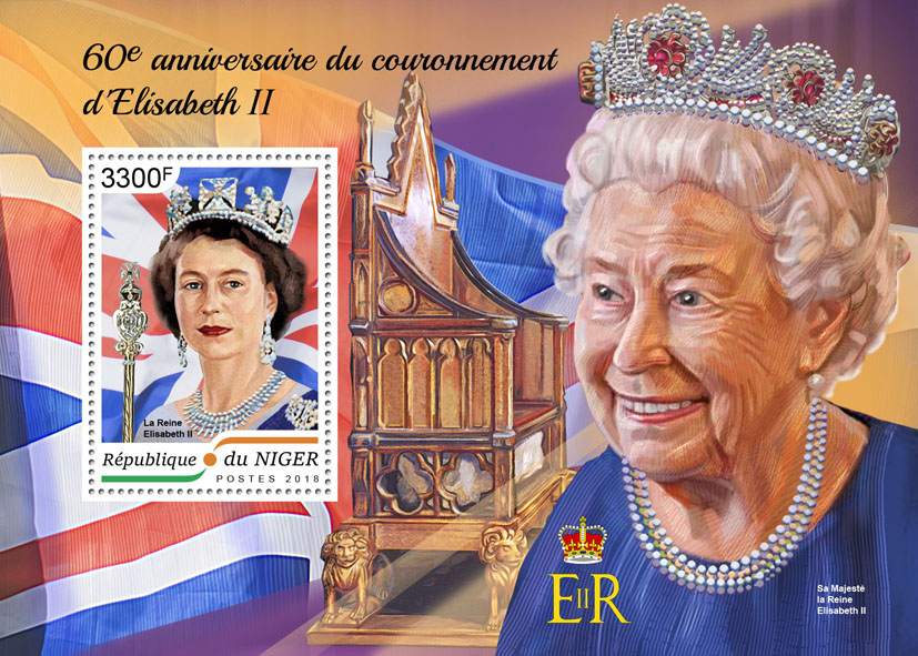 Queen Elizabeth II - Issue of Niger postage stamps