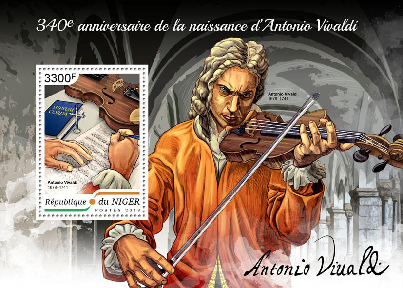 Antonio Vivaldi  - Issue of Niger postage stamps