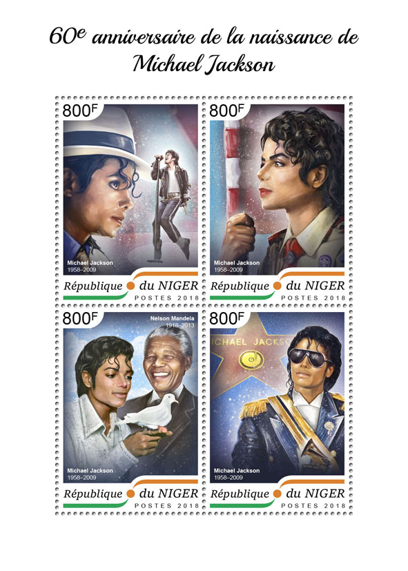 Michael Jackson - Issue of Niger postage stamps
