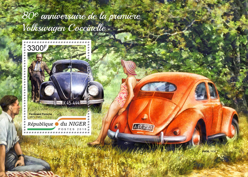 Volkswagen Beetle - Issue of Niger postage stamps