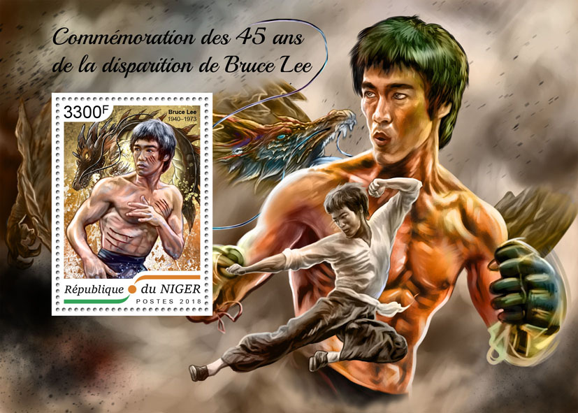 Bruce Lee - Issue of Niger postage stamps