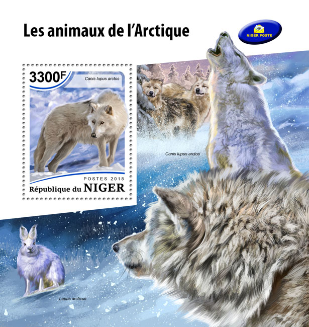 Arctic animals - Issue of Niger postage stamps