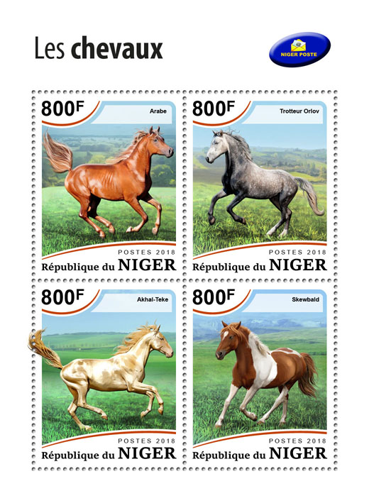 Horses - Issue of Niger postage stamps
