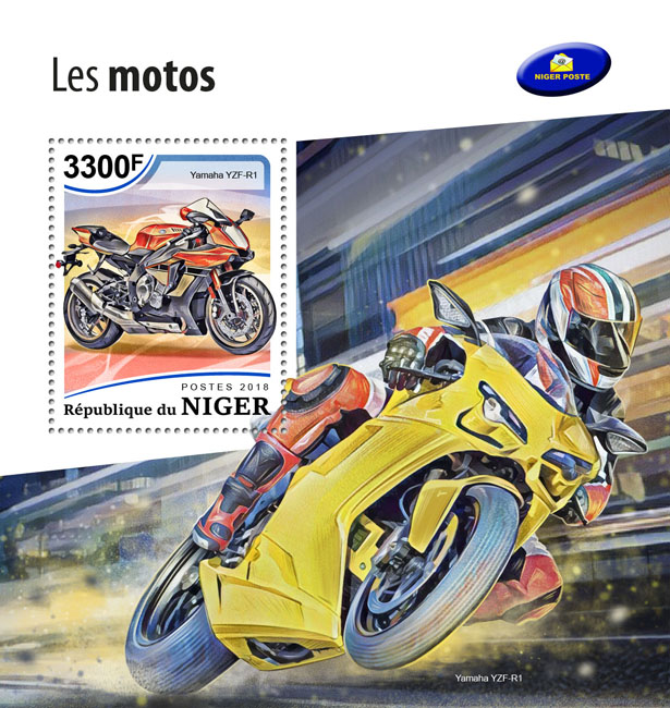 Motorcycles - Issue of Niger postage stamps