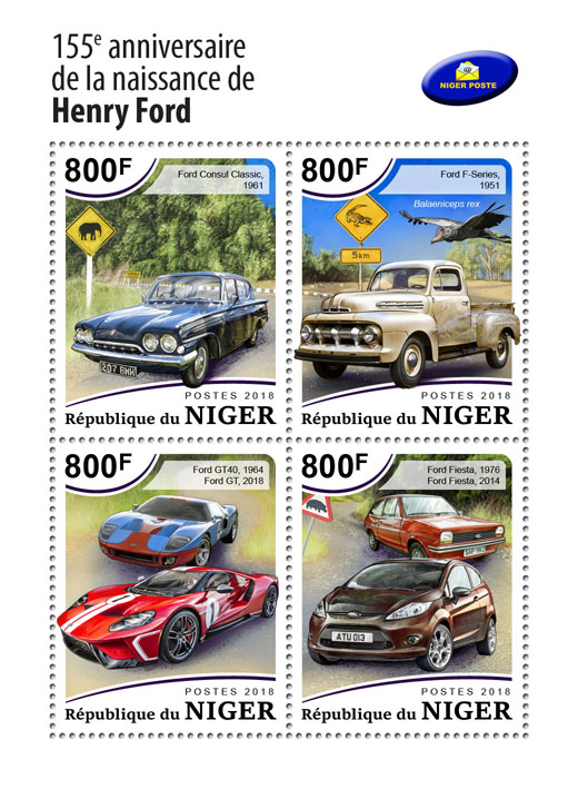 Henry Ford - Issue of Niger postage stamps