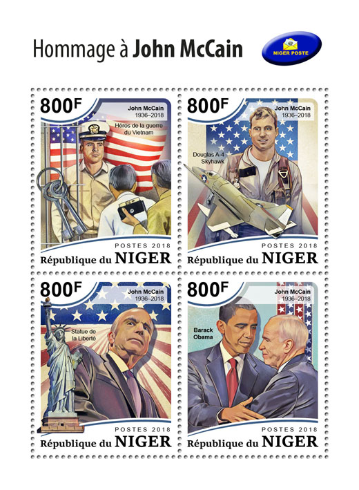 John McCain - Issue of Niger postage stamps