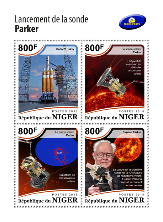 Parker Solar Probe - Issue of Niger postage stamps