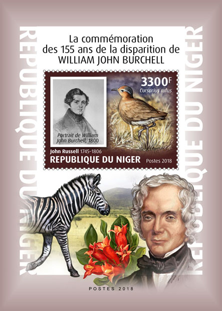 William John Burchell  - Issue of Niger postage stamps