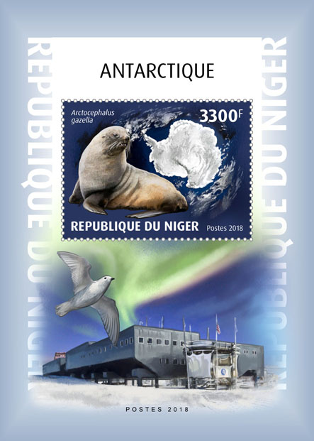 Antarctica - Issue of Niger postage stamps